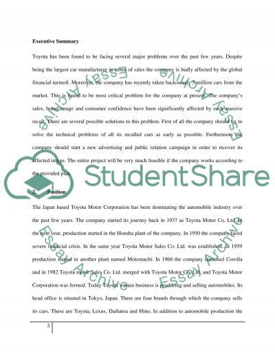 Toyota essay example