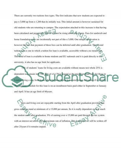 National Changes In Tuition Fees And Funding 2006 essay example