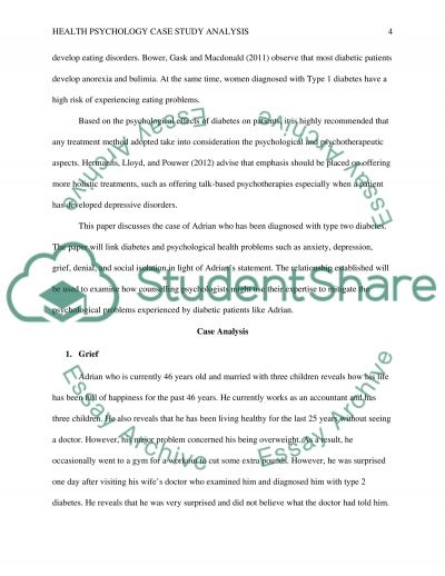 Psychological case study paper examples for Psychological case study template