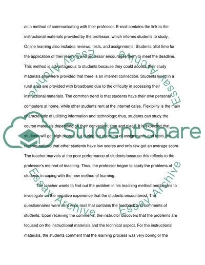 Applying The Principles Of Instructional Design In E Learning Research Paper