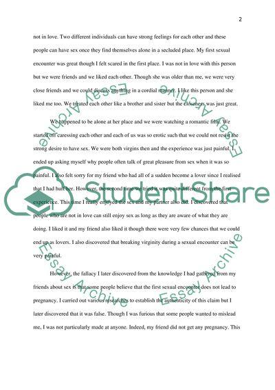 Science Development Essay Sex Education High School English Essay Topics also Process Essay Thesis Sex Education Essay Example  Topics And Well Written Essays    Thesis Statement For Comparison Essay
