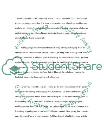 my school time essay