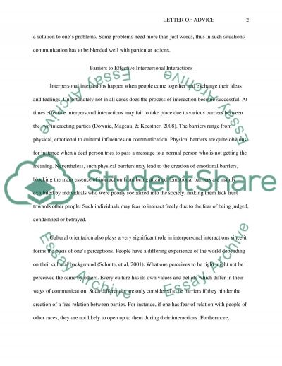 letter of advice essay example topics and well written essays letter of advice essay example