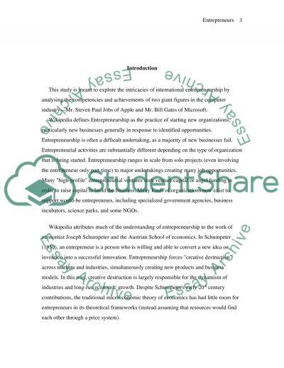 International Entrepreneurship Master Essay essay example