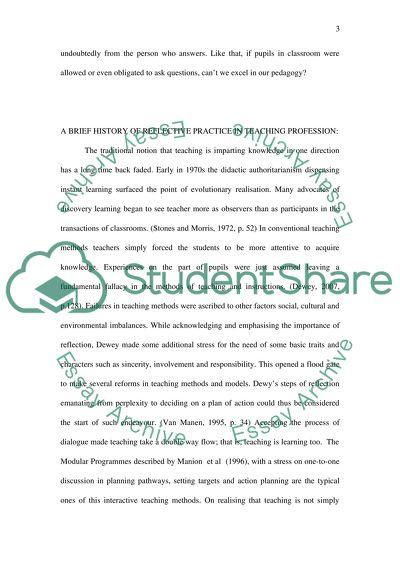 The efficiency of teaching