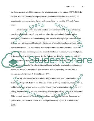 animals for research purposes essay
