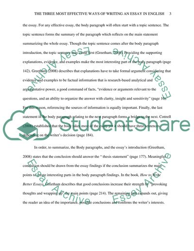 The three most effective ways of writing an essay in english