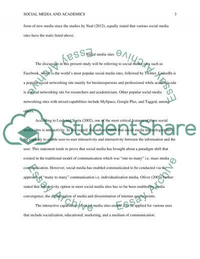 Social Media and Academics essay example