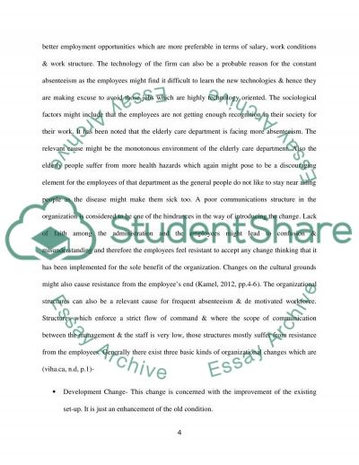 organization change management case study essay text