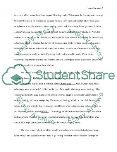 Should Technology Be Use In Classroom essay example
