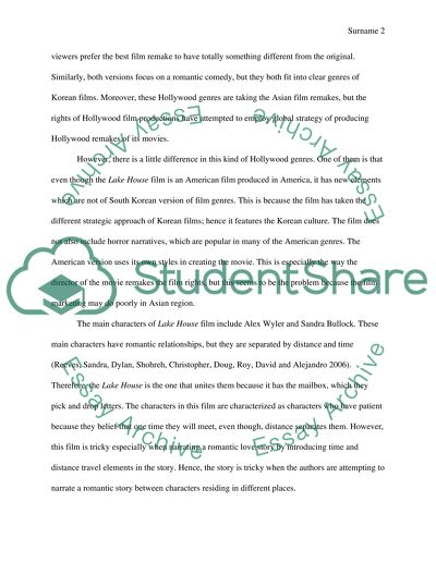 How To Use A Thesis Statement In An Essay Film Comparison Small Essays In English also Simple Essays For High School Students Film Comparison Essay Example  Topics And Well Written Essays  Process Essay Thesis