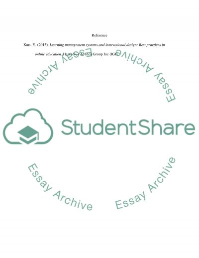Blended and e-learning environment essay example