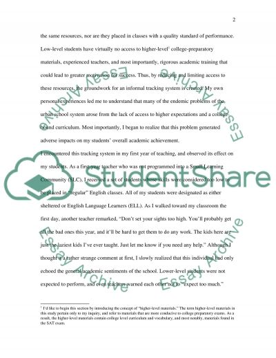The Learning Environment essay example