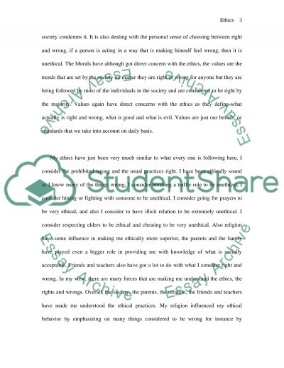 Ethics Development, Understanding & Application essay example