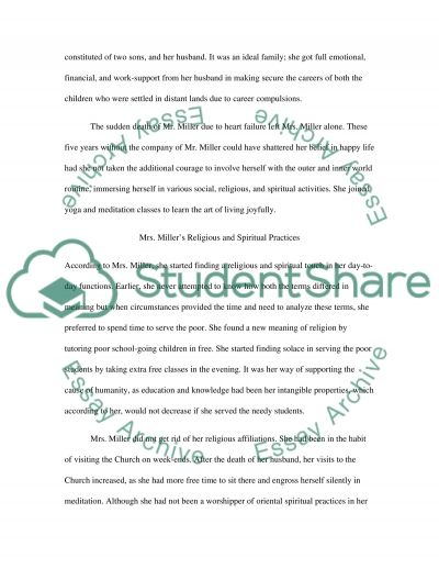 Religion and the Elderly essay example