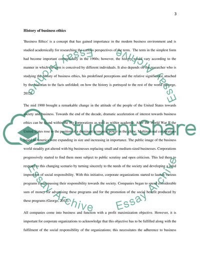 Business Ethics Assignment Example Topics And Well Written Essays