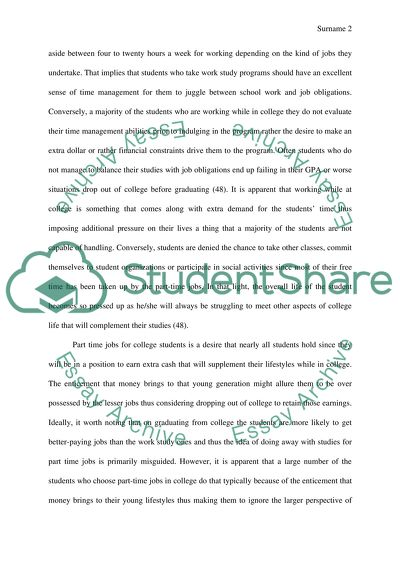 should teenager work essay