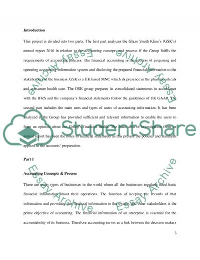 GlaxoSmithKline Finance and Accounting Essay essay example
