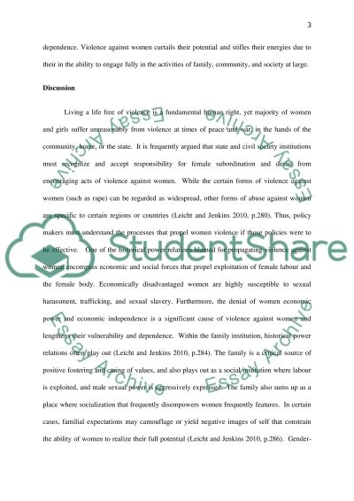 Gender Policy Review essay example
