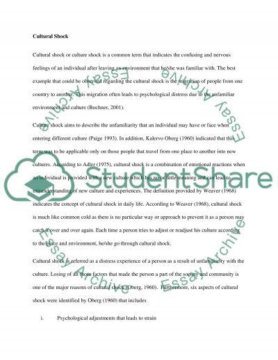 Culture in international business essay