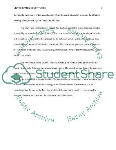 What Is The Importance Of The United States Constitution Essay What Is The Importance Of The United States Constitution