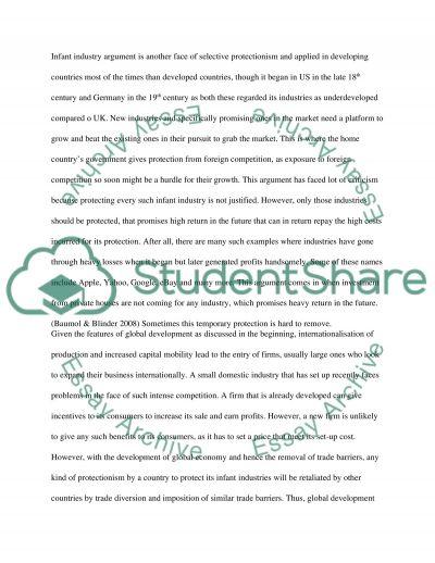 GLOBAL ECONOMIC ENVIRONMENT essay example
