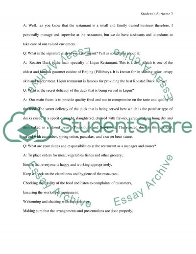 Interview a Family Business Leader essay example