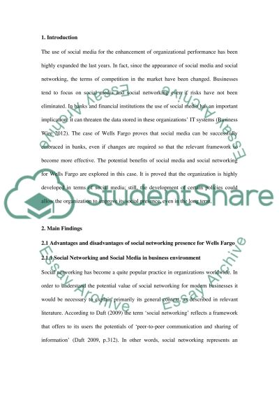 social Networking and enterprise Essay example