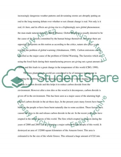 Global Warming Essay essay example