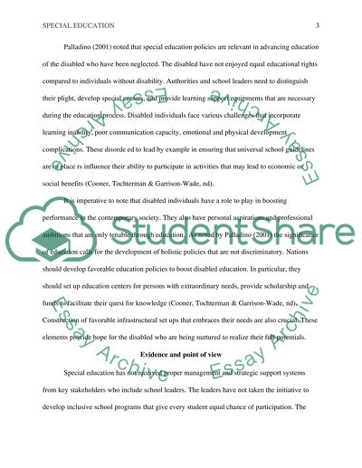 Critical Thinking Essay  Special Education Example  Topics And  Critical Thinking Essay  Special Education