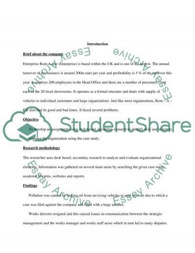 Exploring Organisations essay example