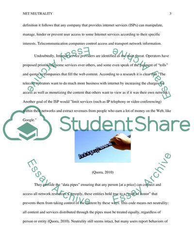 Net Neutrality Essay for School and College Students in English Language