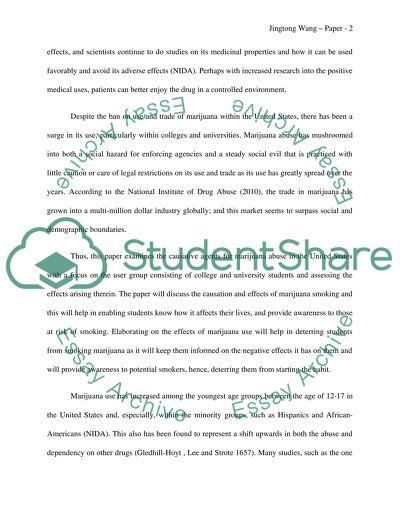 Controlling Marijuana Abuse among University Students in the US