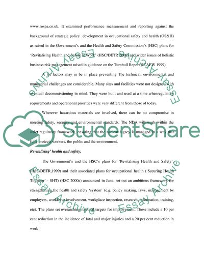 safety and even healthiness from deliver the results essay