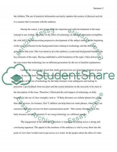 Self-Reflection essay example