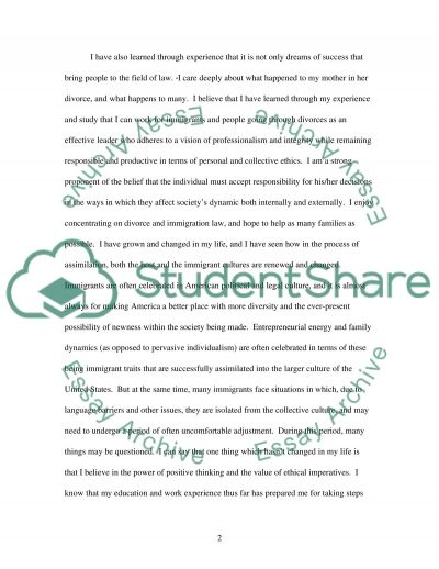 Immigration Personal Statement essay example