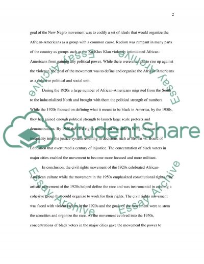 The Civil Rights Movement essay example