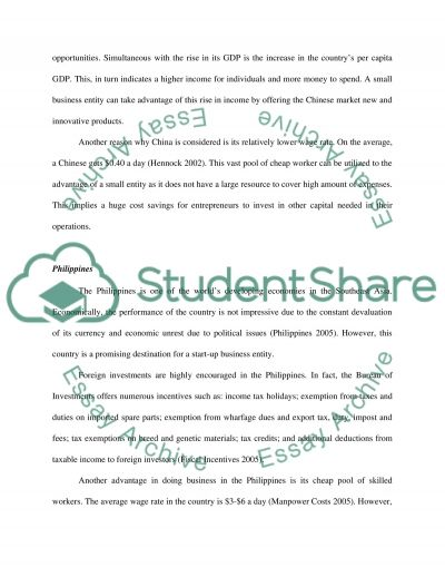 Business so Foreign Essay example