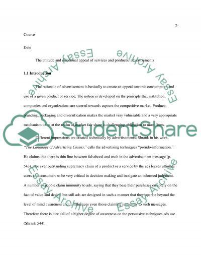 Advertising essay example