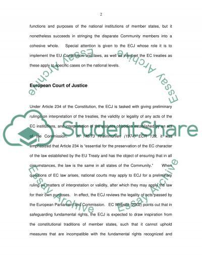 European Union Law Essay