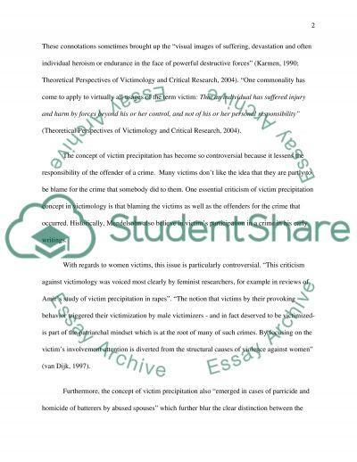 Victim Precipitation essay example