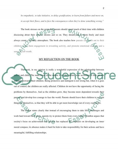 Too Much of a Good Thing by Dan Kindlon essay example