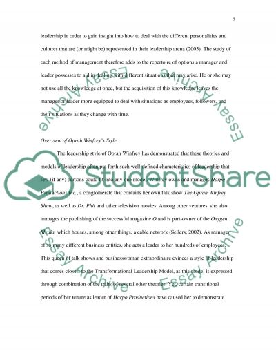 Leadership and Organisational Development Style Essay example