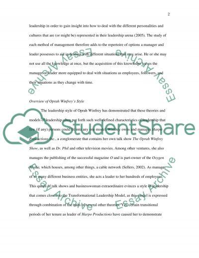 Leadership and Organisational Development Style essay example