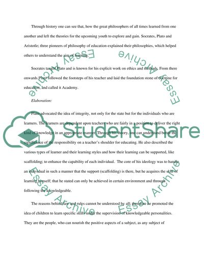 Reflection Paper on The History & Philososphy of Education