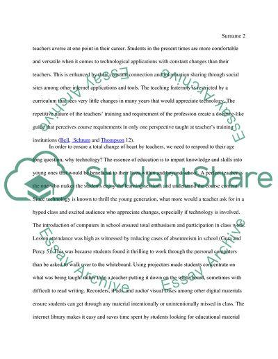 Technology: Teachers Reluctance