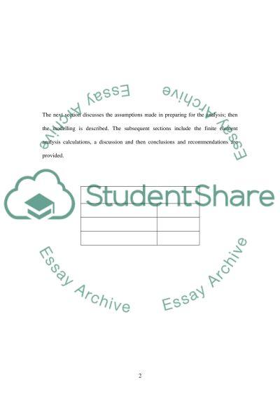 Finite element analysis2 essay example