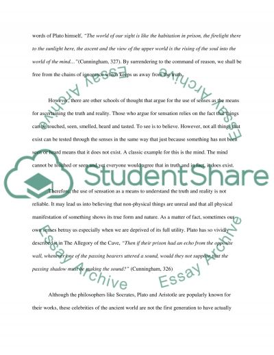 Reasons for Truth and Reality essay example