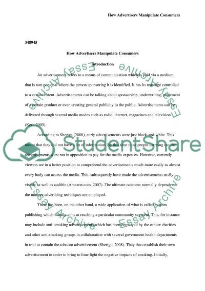 Strategies of Advertising essay example