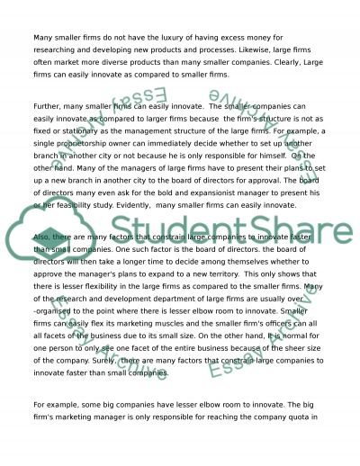 Innovative Behaviour essay example
